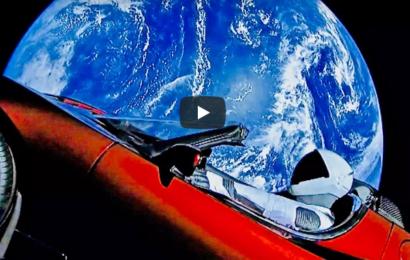 Rumeventyret 2018 starter her: Starman på vej til Mars og videre i en Tesla Cabriolet