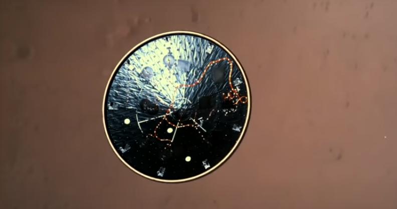 NASA har frigivet forbløffende video af den dramatiske landing på Mars
