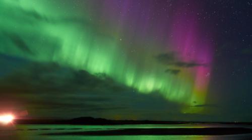 Nordlys på nattehimlen