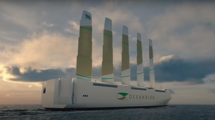 Nyt vinge-vinddrevet fragtskib kan transportere 7000 biler over Atlanten